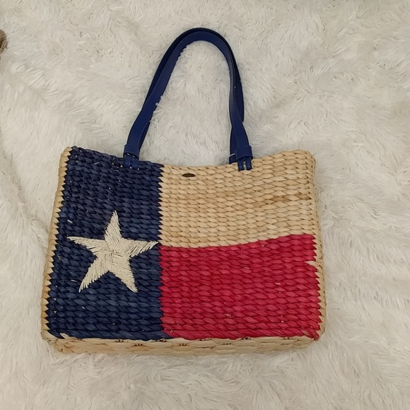 Scala Bags Lone Star Red White And Blue Straw Purse Poshmark